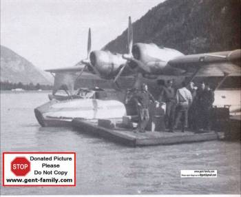 CF-FOQ at Kemano Beach Dock, Bud Walker Photo