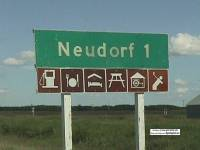 1 km sign between Lemberg and Neudorf, 2000
